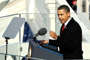 President Obama at his 2009 Inaugural Address (Image Source: New York Magazine)