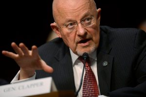 Director of National Intelligence James Clapper testifies at a Senate Intelligence Committee hearing on March 12, 2013.