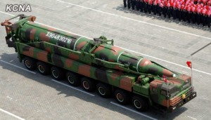 North Korea parades a KN-08 in an April 2012 parade.