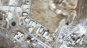 Iran's Natanz uranium enrichment facility (image source: BBC).