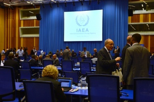 Delegates gather at the IAEA on July 1 for the opening of the International Conference on Nuclear Security.