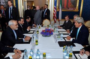 Secretary of State John Kerry and Iran Foreign Minister Mohammad Javad Zarif meet in Vienna for a second day of talks.