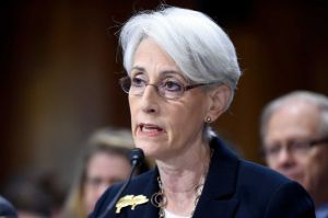 Undersecretary of State Wendy Sherman testifies before the Senate Foreign Relations Committee on July 29.